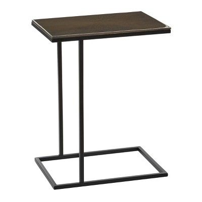 Contemporary Aluminum Accent Table Black - Olivia & May