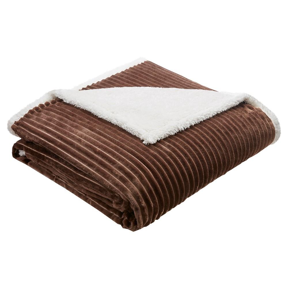 Williams Solid Corduroy Plush Blankets, Gray