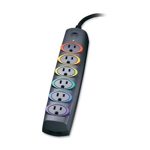 Kensington SmartSocket 6-Out Basic Surge Protector - 6 x Power 3-pole - 670 J - 120 V AC Input - 120 V AC Output - Fax/Modem/Phone - image 1 of 1