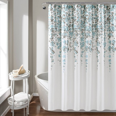 Weeping Flower Shower Curtain - Lush Decor - image 1 of 4