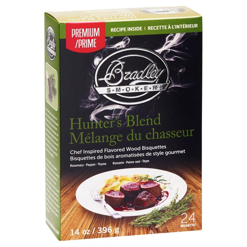 Hunter's Blend Bisquettes 24 Pack – Bradley Smoker, Silver 52163942