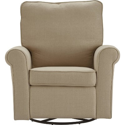 Hughes Swivel Recliner Chair Sand - ClickDecor