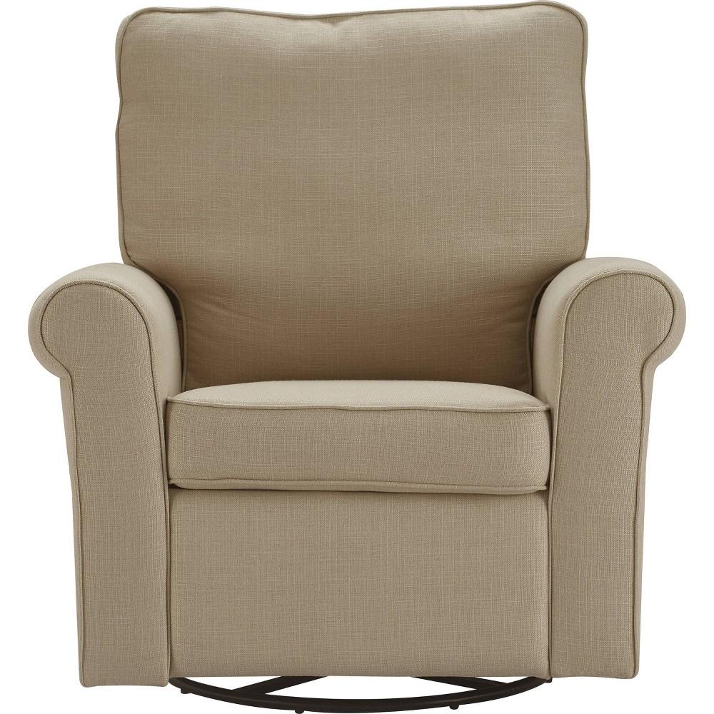 Hughes Swivel Recliner Chair Sand Clickdecor