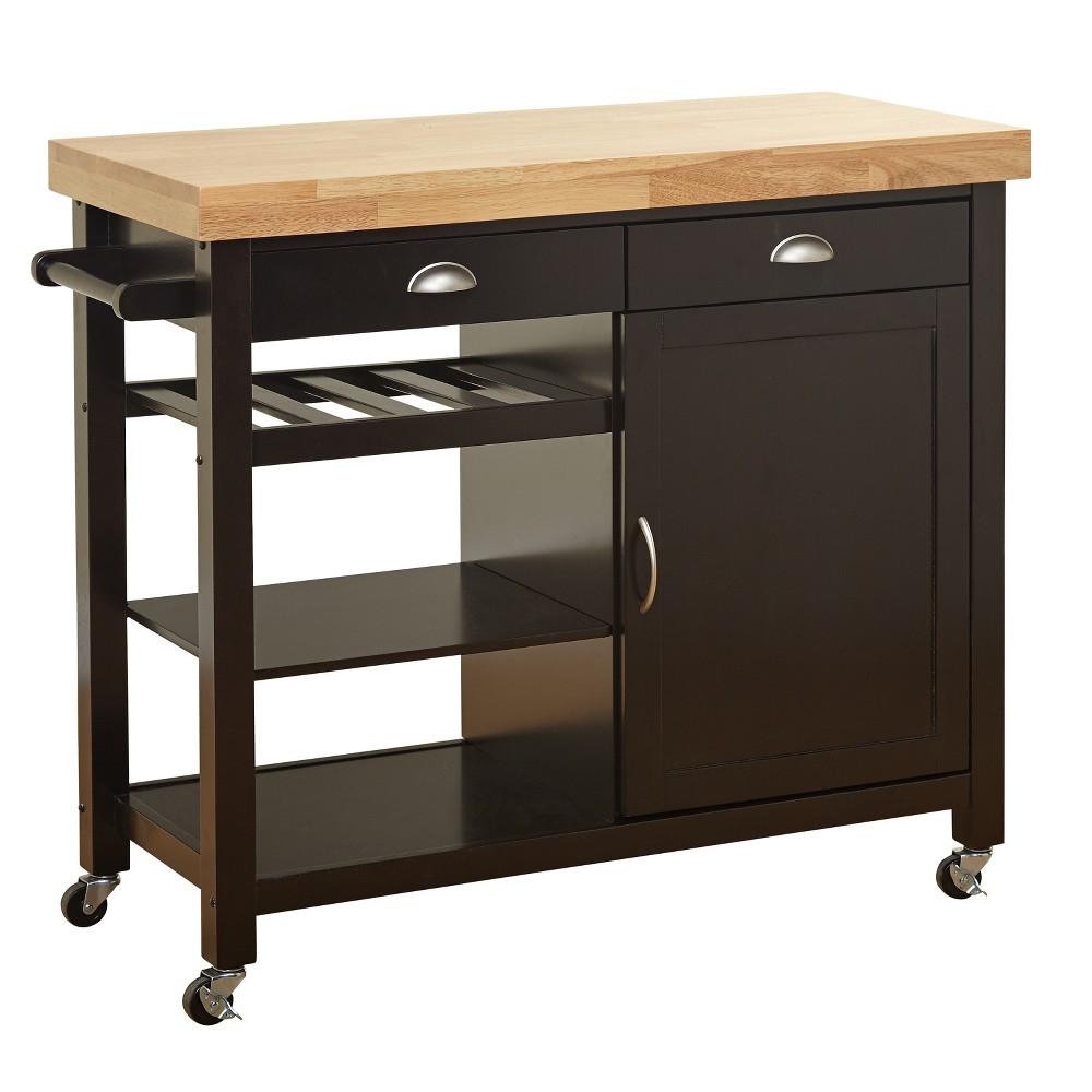 Martha Kitchen Cart - Wenge/Natural - Buylateral