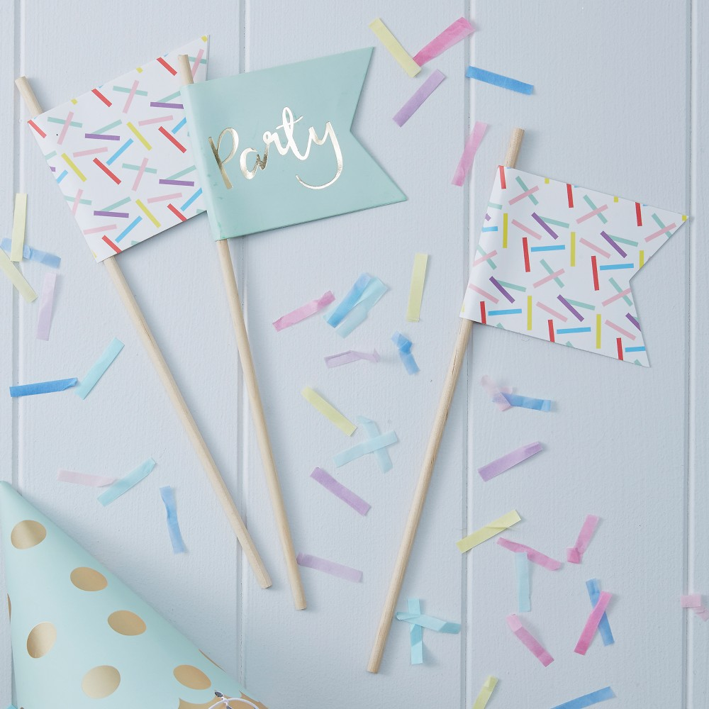 "Image of ""10ct """"Party"""" Foiled Sprinkle Decoration"""