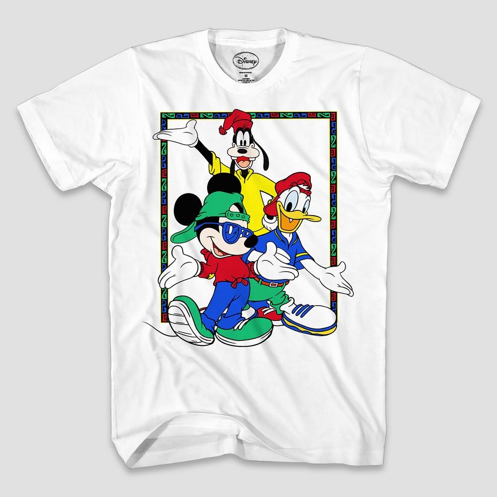 Men's Disney 90's Mickey Trio Short Sleeve T-Shirt - White S