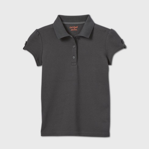 Girls' Short Sleeve Interlock Uniform Polo Shirt - Cat & Jack™ - image 1 of 2