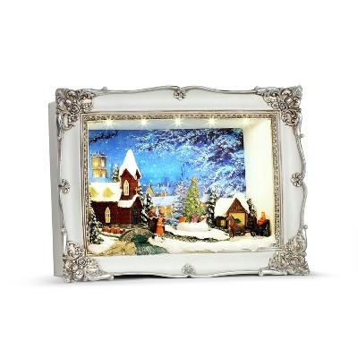 Mr. Christmas Animated Shadow Box Scene Animated Musical Christmas Decoration - Church