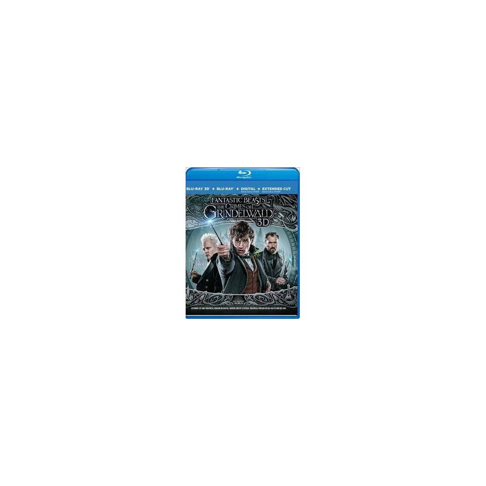 Fantastic Beasts: The Crimes Of Grindelwald 3d (Blu-ray) In this sequel to  Fantastic Beasts and Where to Find Them,  dark wizard Gellert Grindelwald (Johnny Depp) escapes and begins to raise an army of pure-blood wizards to dominate all non-magical beings. Albus Dumbledore (Jude Law) recruits magizoologist Newt Scamander (Eddie Redmayne) to travel to Paris and track down Credence Barebone (Ezra Miller), whose power both sides want to control. Directed by David Yates. Written by J.K. Rowling. Dan Fogler, Katherine Waterston, Alison Sudol, Zoë Kravitz and Claudia Kim co-star.