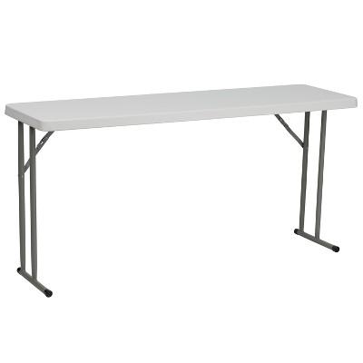 Riverstone Furniture Collection Folding Training Table Granite White