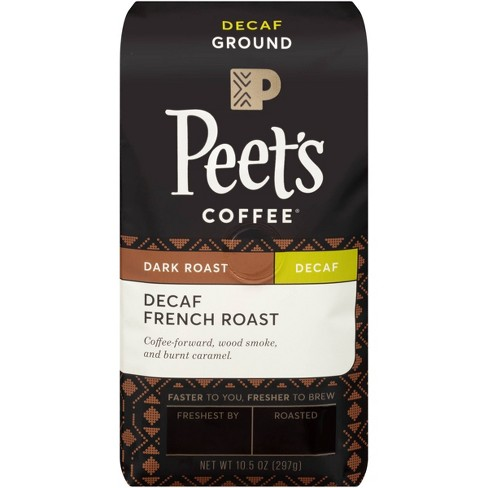 Peet's Decaf French Dark Roast Ground Coffee 10.5oz - image 1 of 4