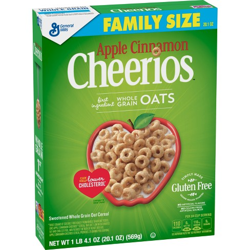 Apple Cinnamon Cheerios Breakfast Cereal - 20.1oz - General Mills : Target