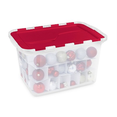 60ct Flip Lid Ornament Storage Box - Homz