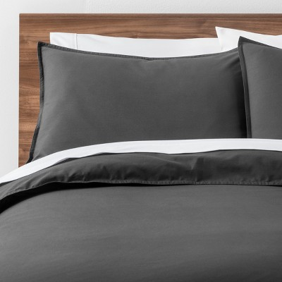 Dark Gray Easy Care Solid Duvet Cover Set (Full/Queen)- Made By Design™