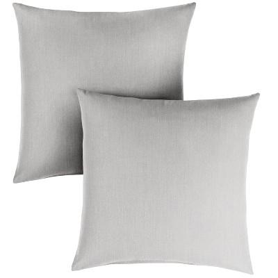 2pk 18 Sunbrella Outdoor Throw Pillows Gray Target