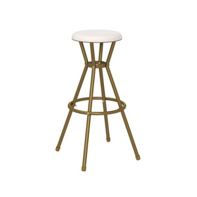 Cosco 2pk Stylaire Bar Stool Gold/White