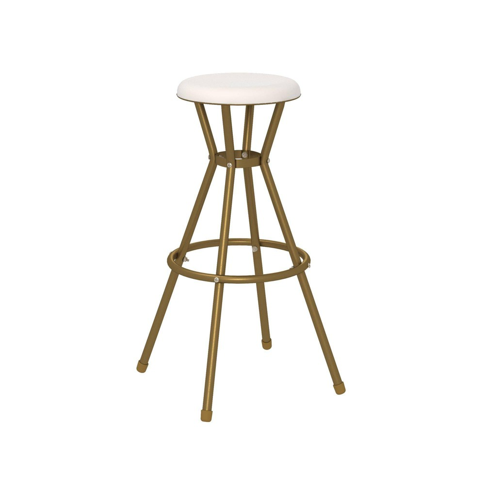 Image of Cosco 2pk Stylaire Bar Stool Gold/White