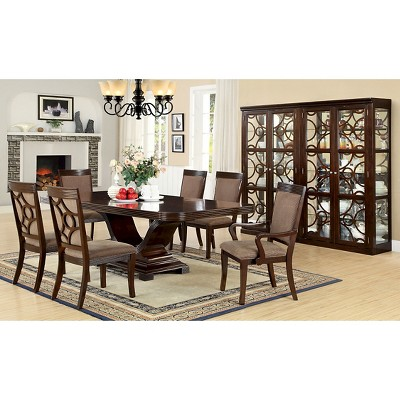 Incroyable Sun U0026 Pine 7pc V Shaped Pedestal Dining Table Set Wood/Walnut : Target