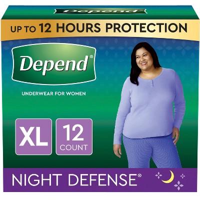 Depend Night Defense Incontinence Underwear for Women - XL