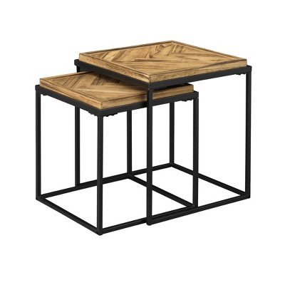 Set of 2 Bronson Nesting Tables Brown - Treasure Trove Accents