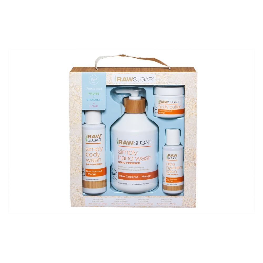 Raw Sugar Raw Coconut + Mango Body Care Gift Set