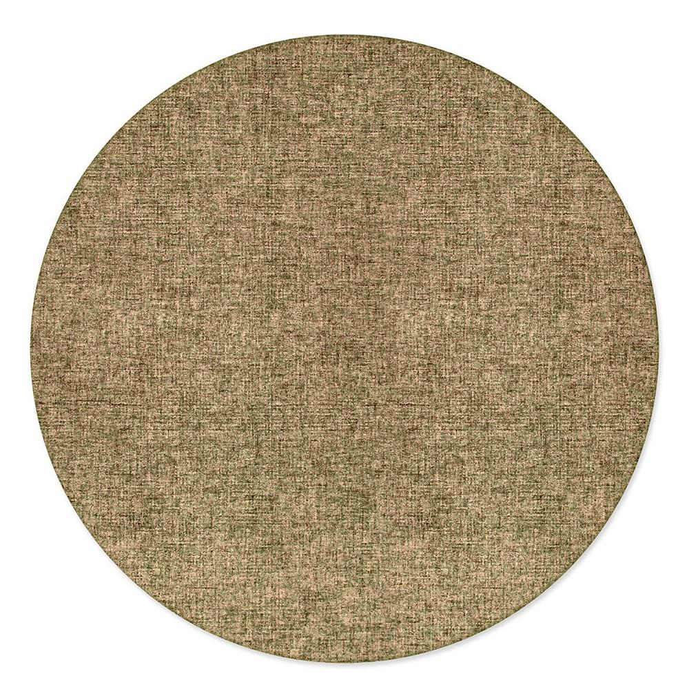 8' Solid Tufted Round Area Rug Khaki (Green) - Liora Manne