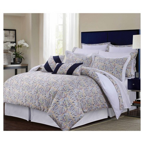 Fiji 300tc Cotton Sateen Bed in a Bag with Deep Pocket Sheet Set 12pc - Tribeca Living® - image 1 of 1