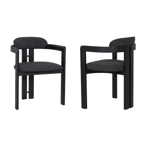 Set Of 2 Jazmin Contemporary Dining Chair Black Armen Living Target