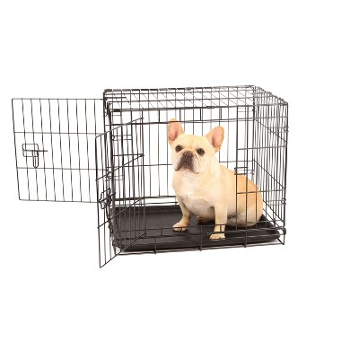 Carlson Two Door Wire Cat and Dog Crate with Divider - Small