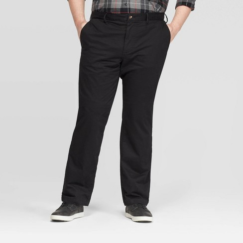 Men's Big & Tall Flannel-Lined Straight Chino Pants - Goodfellow & Co™ - image 1 of 4