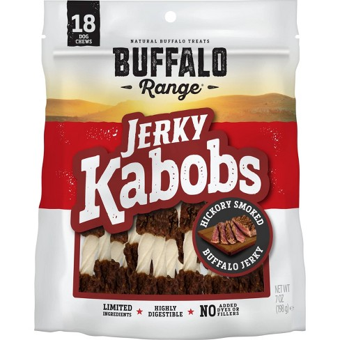 Buffalo Range Natural Jerky Kabobs Rawhide Chews for Dogs - 18ct - image 1 of 3