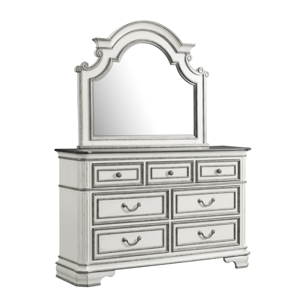Caroline 7 Drawer Dresser with Mirror Set White - Picket House Furnishings