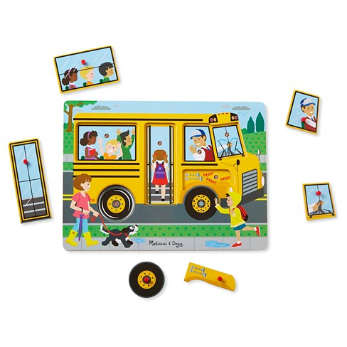 Melissa & Doug® The Wheels on the Bus Sound Puzzle 6pc - image 1 of 4