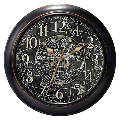 World Map Decorative Clock