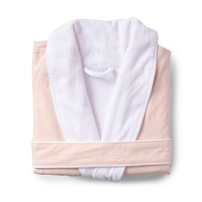 L/XL Platinum Bath Robe Blush - Cassadecor