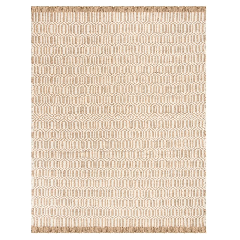Natural/Ivory Tribal Design Woven Area Rug 8'X10' - Safavieh, Gray
