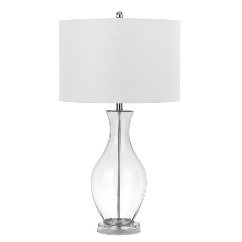150W 3 Way Skye Glass Table Lamp With Fabric Shade (Lamp Only) - Cal Lighting - image 1 of 2