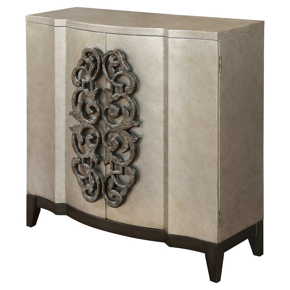 Sierra Cabinet - Metallic - Christopher Knight Home, Metallic Gray
