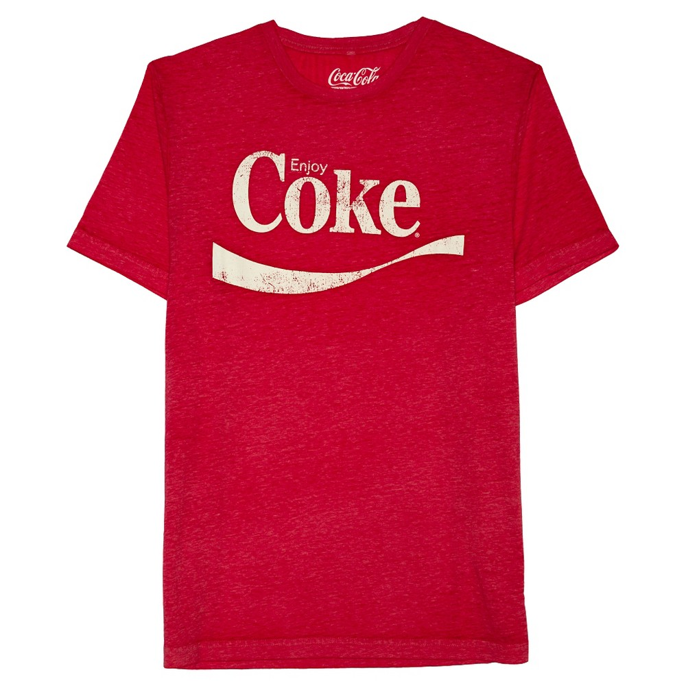 Men's Coca-Cola Coke Logo T-Shirt - Red L