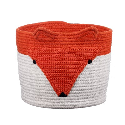 Coiled Rope Storage Bin Large Fox - Cloud Island™