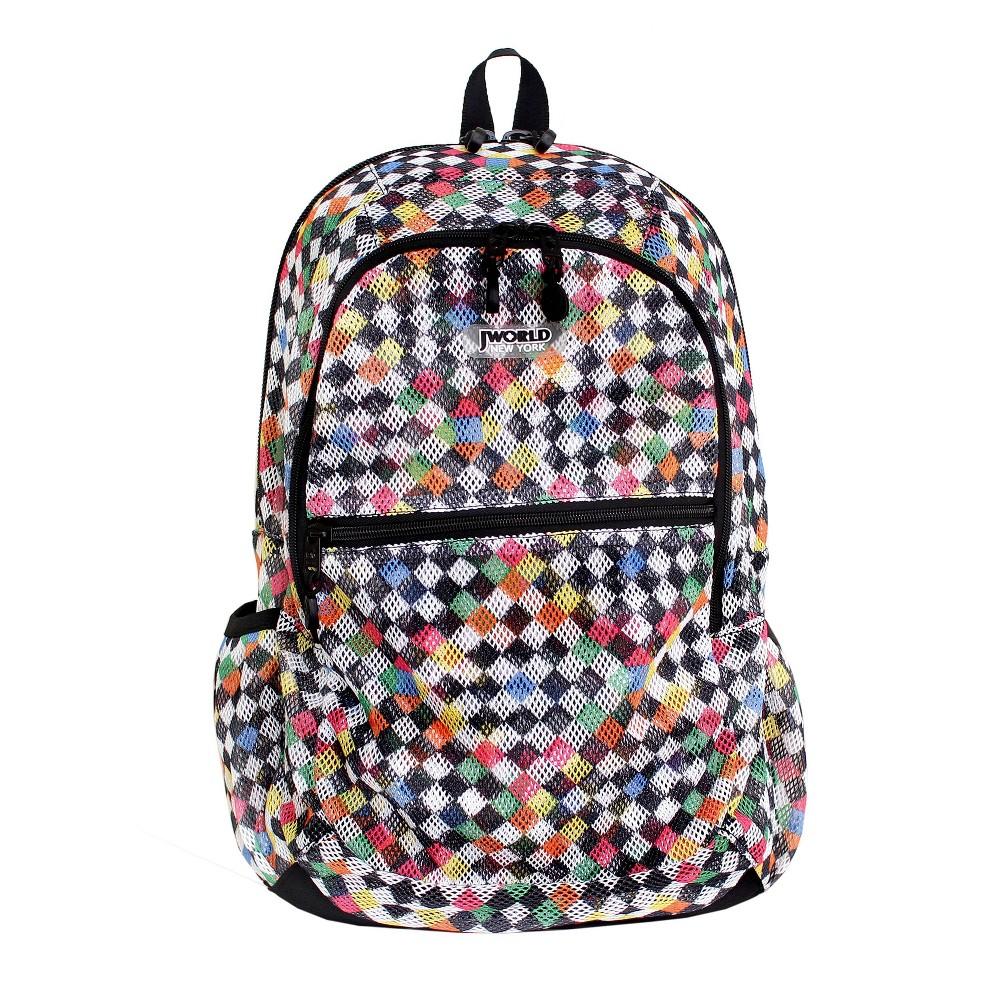 J World 18 Mesh Backpack Checkers