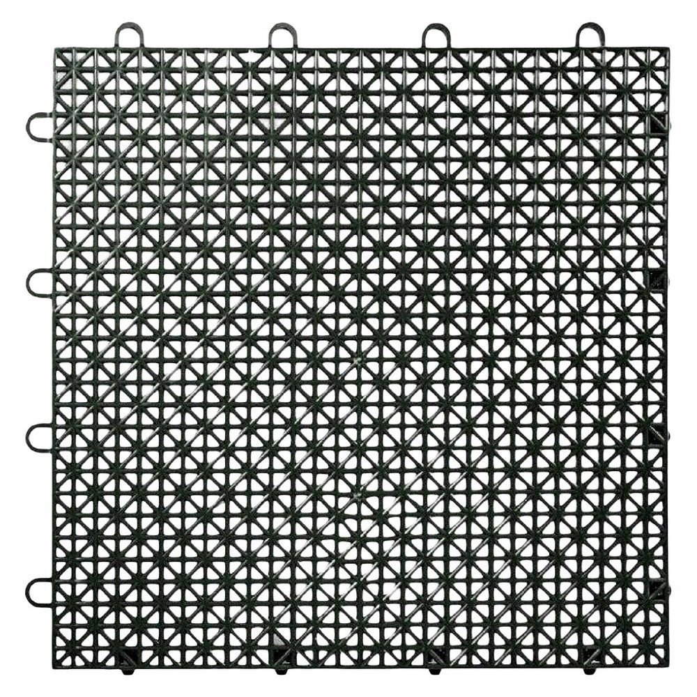 "Image of ""12""""x12"""" Armadillo Floor Tile 9 Pack - Black"""