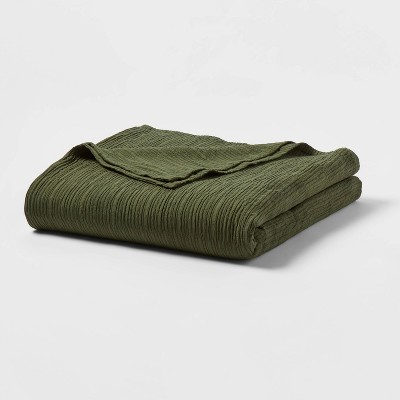 Full/Queen Textural Stripe Coverlet Olive - Project 62™ + Nate Berkus™