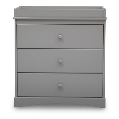 Delta Children Skylar 3-Drawer Dresser with Changing Top - Gray