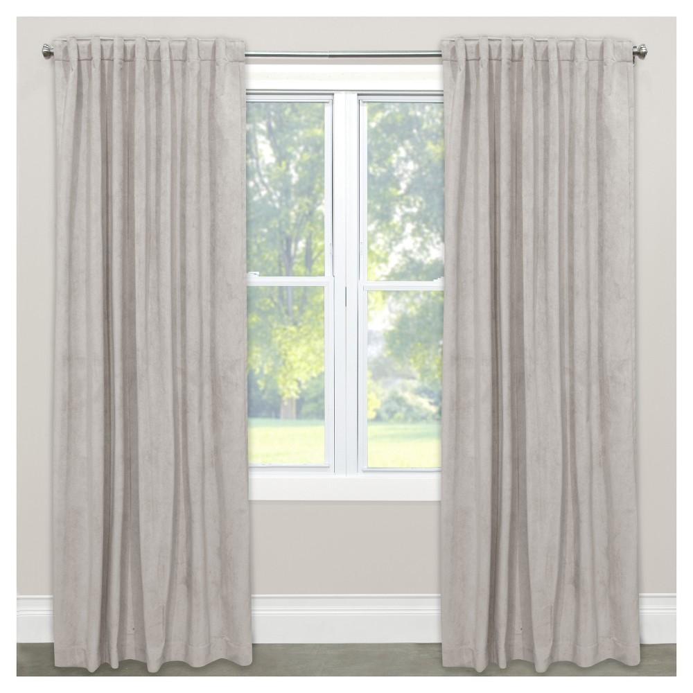Velvet Blackout Curtain Panel Light Gray (50