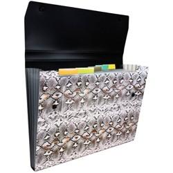 "JAM Paper 9"" x 13"" 6 Pocket Plastic Expanding File Folder with Snap Closure - Letter Size"