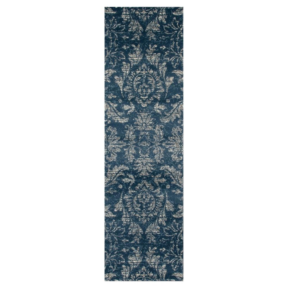 Image of Blue Classic Woven Runner - (2'X8') - Art Carpet, Size: 2'X8' RUNNER