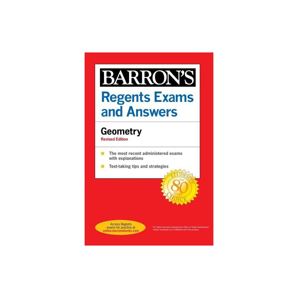 Regents Exams And Answers Geometry Revised Edition Barron S Regents Ny By Andre Castagna Paperback
