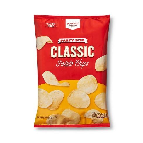 Original Potato Chips Party Size - 15.25oz - Market Pantry™ - image 1 of 3