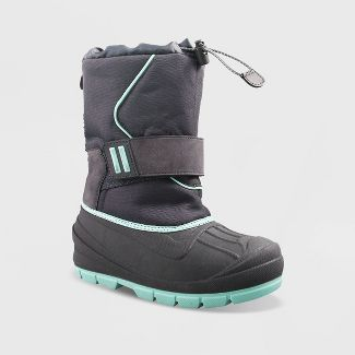 Girls' Cordie Winter Boots - Cat & Jack™ Gray 6